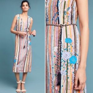 ANTHROPOLOGIE NWOT Embroidered Painterly Dress